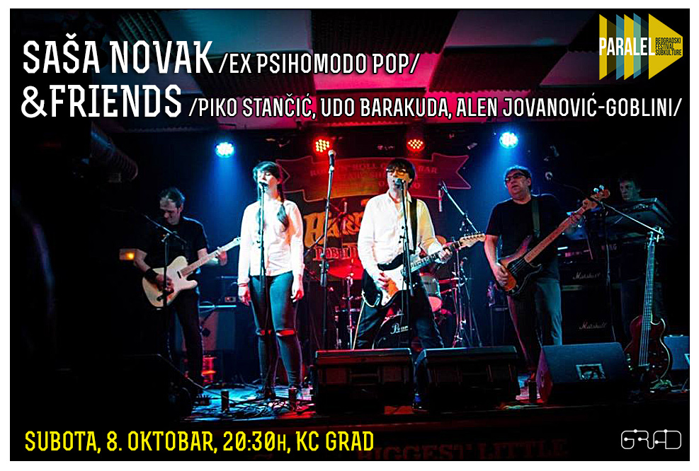 Sale&Friends /ex Psihomodo Pop/, 8.10, KC Grad